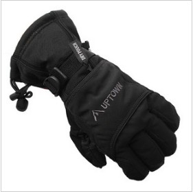Black Leather With Many Small Dots Motorcycle Gloves