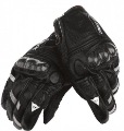 With Bull Images On Carbon Fiber Shell Black Motorcycle Gloves