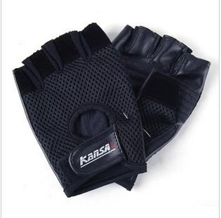 Black Wear Resistant Anti-Slip Sports Gloves