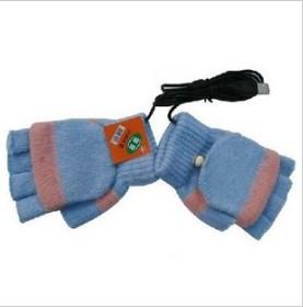USB Heated Soft Warm Cotton Full Finger Winter Gloves
