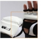 PU Leather White Half Fingers Sports Gloves