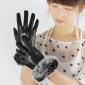 PU & Rabbit Fur Lady's Winter Leather Gloves