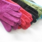 Lady's Cute Winter Cold Resistant Pigskin Leather Gloves