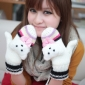 Women's Knitted With A Cartoon Animal Mittens Winter Gloves