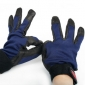 Blue & Black Cotton Wearable Motorcycle Gloves