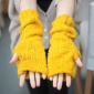 Half Finger Cold Resistant Yellow Winter Gloves