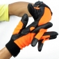 Orange Finger Anti-slip Motorcycle Gloves