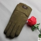 Sheepskin Army Green Thicken Leather Glovessheepskin