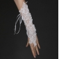 Ivory Embroidery Lace-up Bridal Gloves