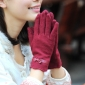 Red With Bow Thicken Nylon Gloves
