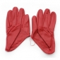 Red Soft Face Cold Resistant Leather Gloves