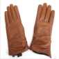 Brown Thicken Woamn's Leather Gloves