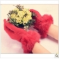 Red Cashmere Sweet Style Winter Gloves