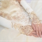 Satin Lace Champagne Bridal Gloves